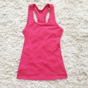 NIKE size S Dri-fit Hot Pink tank